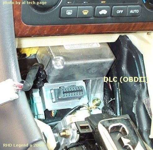 dlc (obdii) on rhd honda legend (a '00)