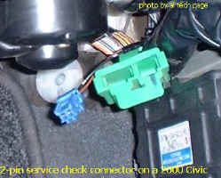 2-Pin Service Check Connector on a '00 Civic (LHD)