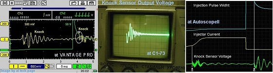 Knock Sensor Output Voltage (by VANTAGE PRO, C1-73 , AutoscopeII